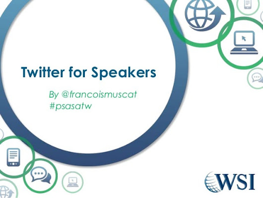 Twitter for professional Speakers