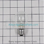 GE 40W Appliance Light Bulb 40A15