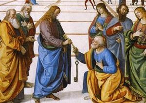 Christ Handing the Keys to St. Peter by Pietro...