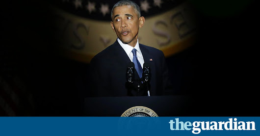 'Yes we did': Barack Obama lifts America one last time in emotional farewell | US news | The Guardian