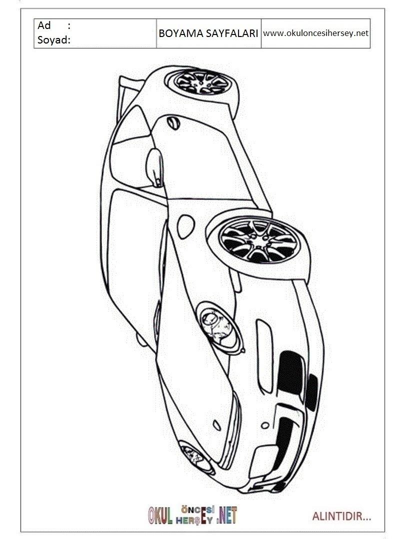 Porsche Boyama Sayfaları
