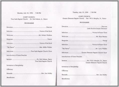 Choir Anniversary Program Template   Template : Resume