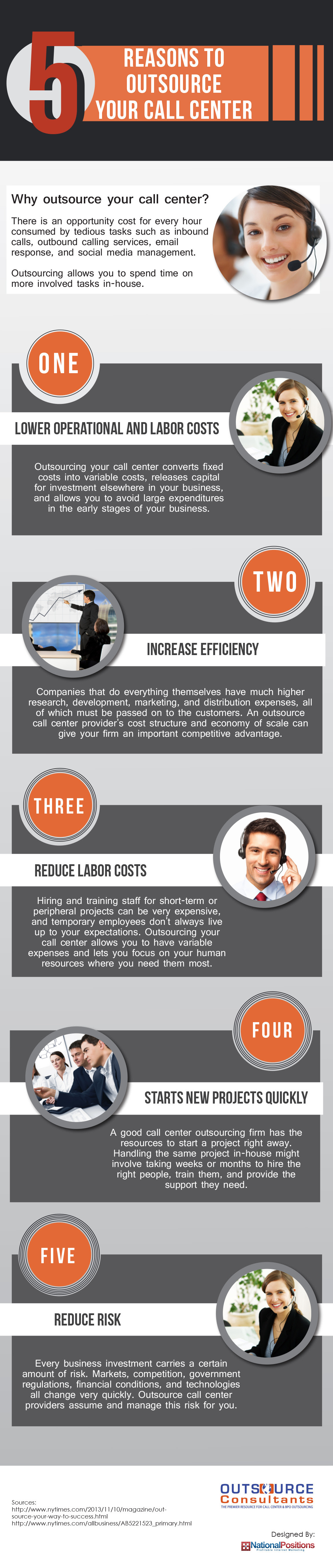 Infographic: 5 Reasons to Outsource Your Call Center