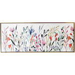 """19"""" x 45"""" Colorful Wildflower Floating Framed Wall Canvas - Gallery 57"""