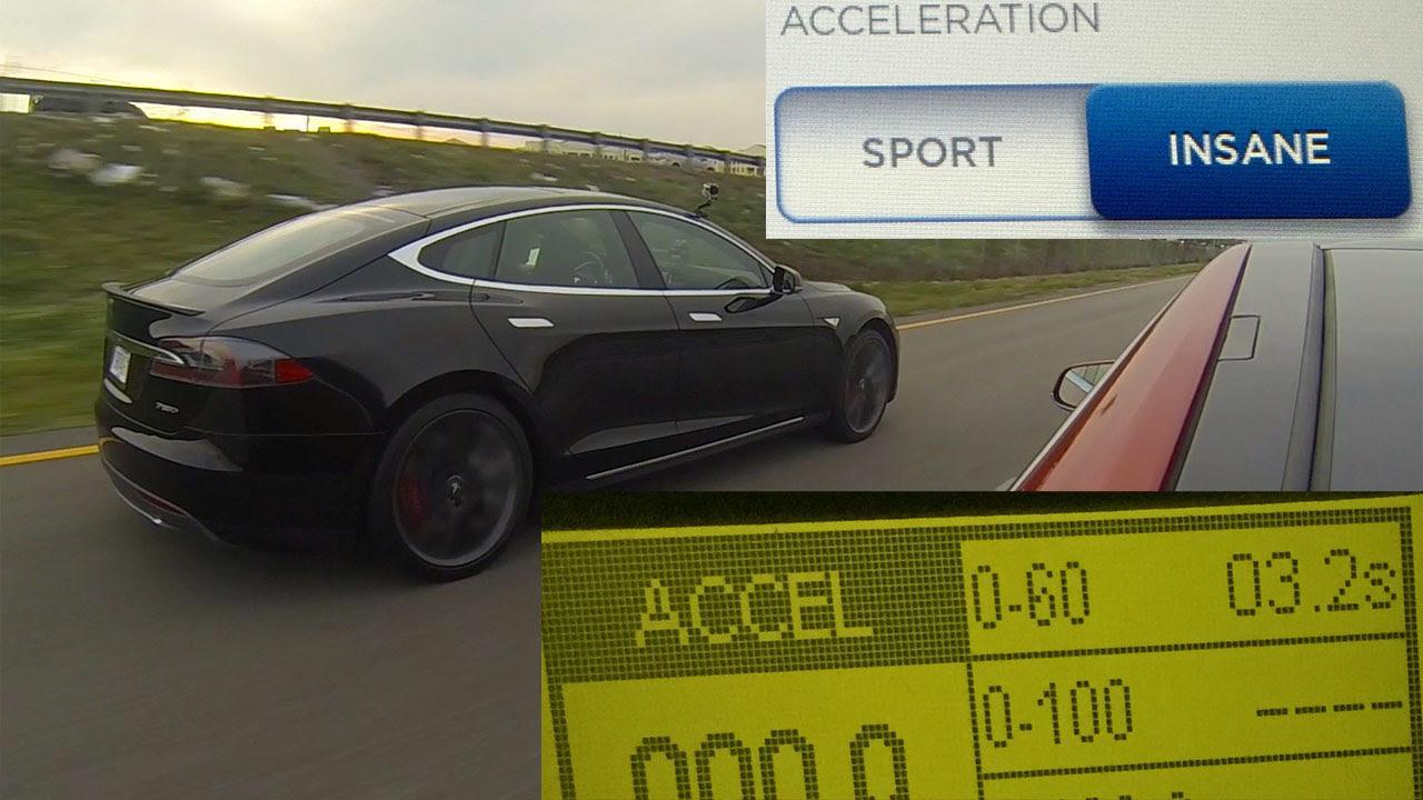 Tesla Model S P85d Insane Vs Sport Mode 0 60 Mph Testing