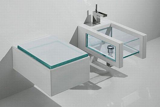 Glass Bathroom Inspiration by GSG Ceramic Design, Transparently ...