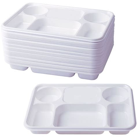 compartment plastic dinner plates  pcs party home food