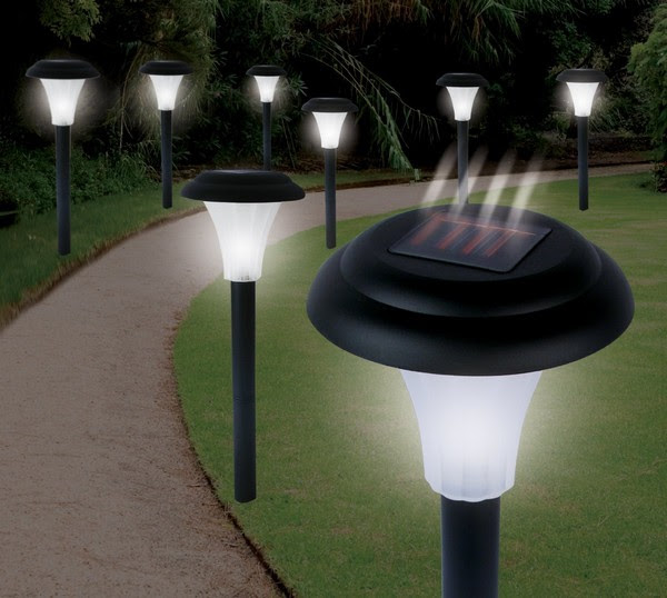 Image result for solar powered lawn lights