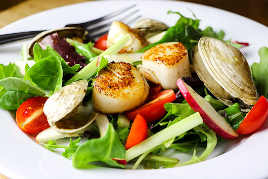 Apple Salad with Littleneck Clams & Scallops Recipe
