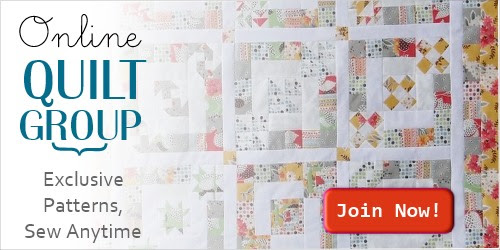 Online Quilt Group membership - 1 year full access, exclusive patterns, guest designers, worldwide community