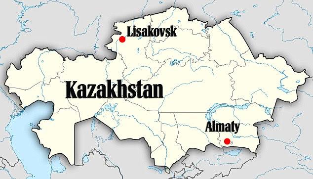 Localização: O símbolo estranho está situado a 12 quilômetros a oeste da cidade de Lisakovsk