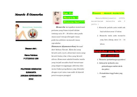 leaflet menarche dismenorhea