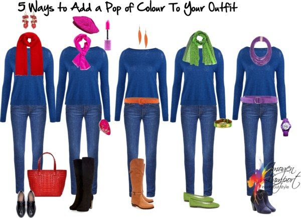 5 ways to add a pop of colour to your outfit