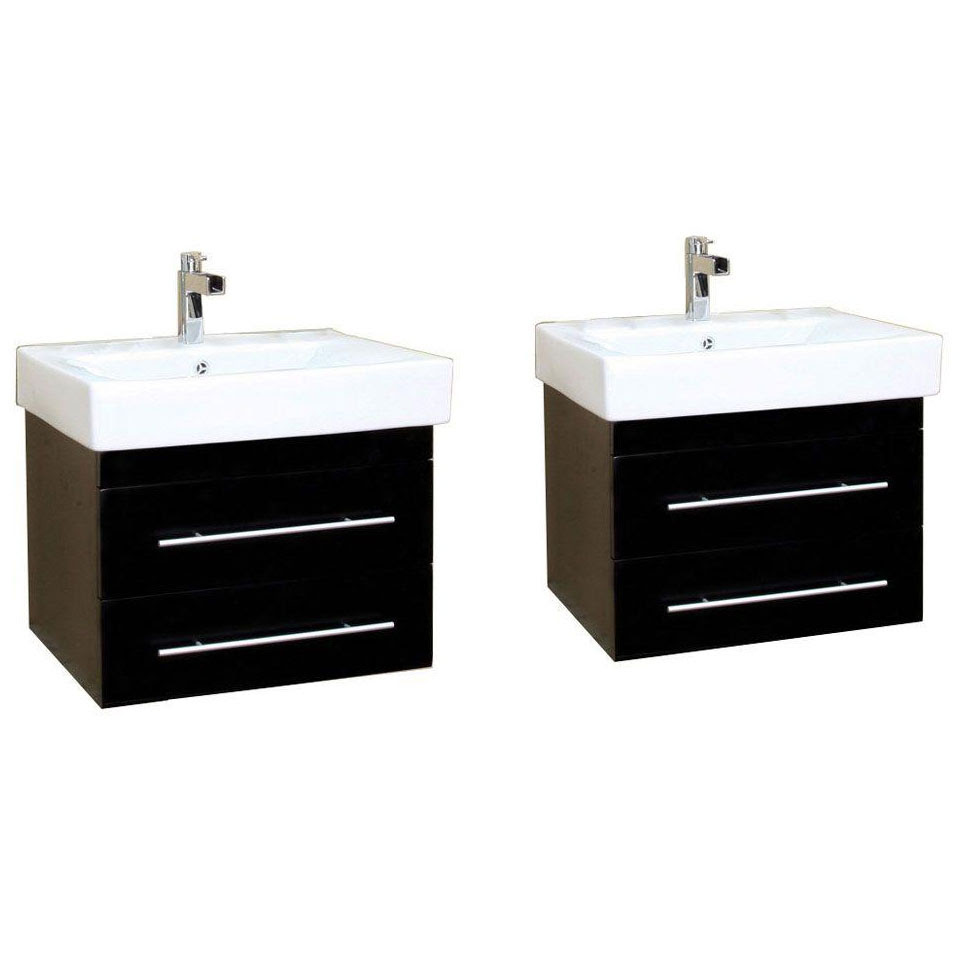 Double Wall-Mount Sink Vanity in Bathroom Vanities
