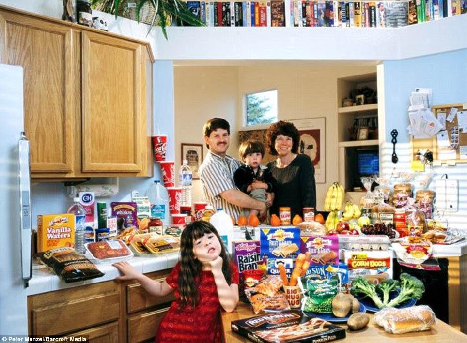 Ηνωμένες Πολιτείες: Η Caven οικογένεια από την Καλιφόρνια που περνούν γύρω από £ 103 την εβδομάδα για τα τρόφιμα