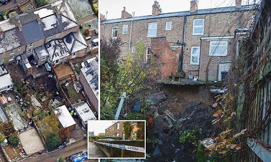 Residents evacuated as 66ft wide sinkhole 'of unknown depth' appears