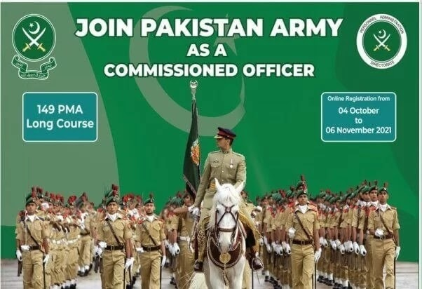 Join Pak Army PMA Long Course Online Registration 2021