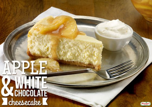 Apple and White Chocolate Cheesecake #hormelfoods #recipe #dessert | Dessert Done Right | Pinterest
