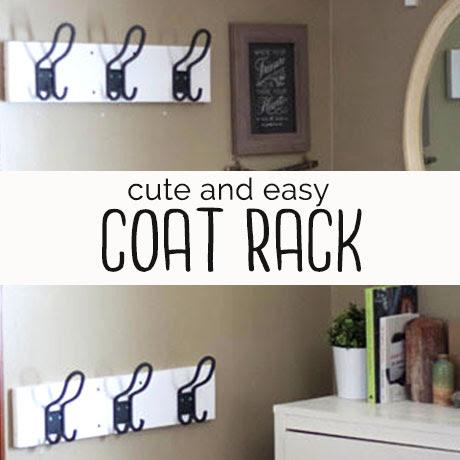 easy coat rack diy