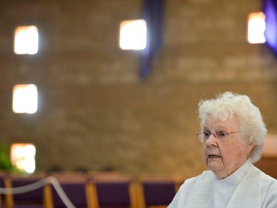The Rev. Bernie Sykora, a local womanpriest, talks