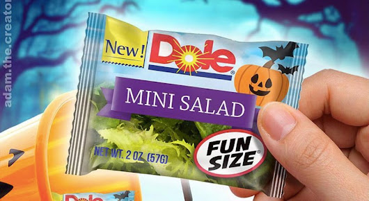 Fun Size' Salads for Halloween? Dole Isn't Sure How It Feels About That - Inside That Ad