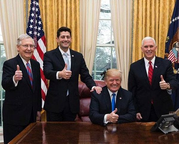 As long as these four Republican scumbags (Mitch 'Turtle-faced' McConnell, Paul 'House-speaking cocksucker' Ryan, Donald 'Dotard' Trump and Mike 'Electroshock-happy' Pence) are in office, Americans sane enough NOT to support Trump and his ilk will consider this an apocalyptic time for the United States.