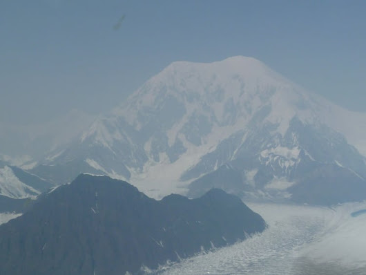 Stunning – Mt. Denali and glacier :: Monumental LA, Paintings by Nancy R. Wise