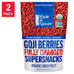 Made in Nature USDA Organic Goji Berries 20 oz 2-pack