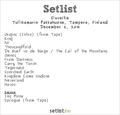 Eluveitie Setlist Pakkahuone, Tampere, Finland 2015