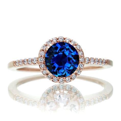 1.5 Carat Round Classic Sapphire and Diamond Vintage