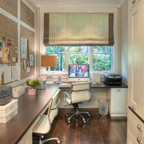great home office layout   small narrow room