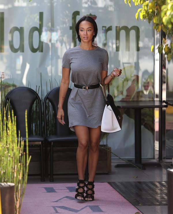 Draya Michele's LA Jimmy Choo Kalmar Rope Black Sandals