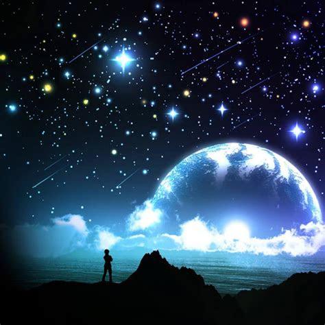 wallpaper langit malam kartun  kumpulan
