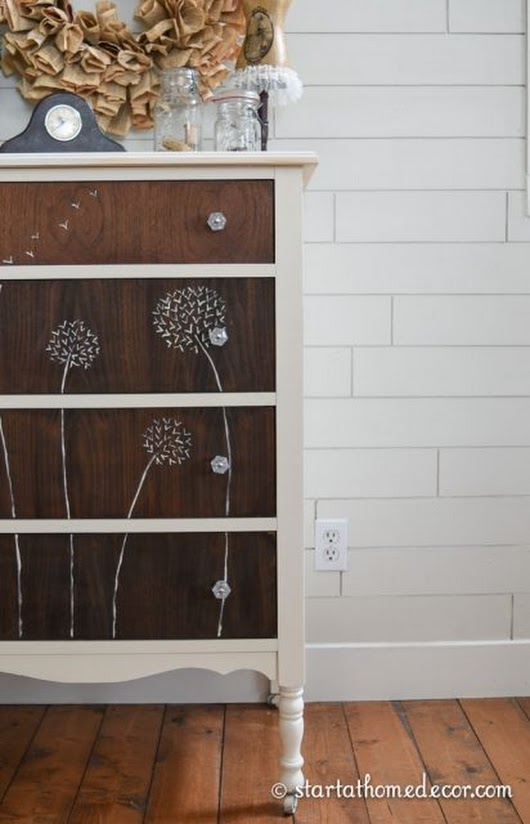 Dandelion Hand Painted Dresser - Start at Home Decor