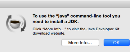 SOLUTION: No Java runtime present, requesting install - Mac OS X Yosemite