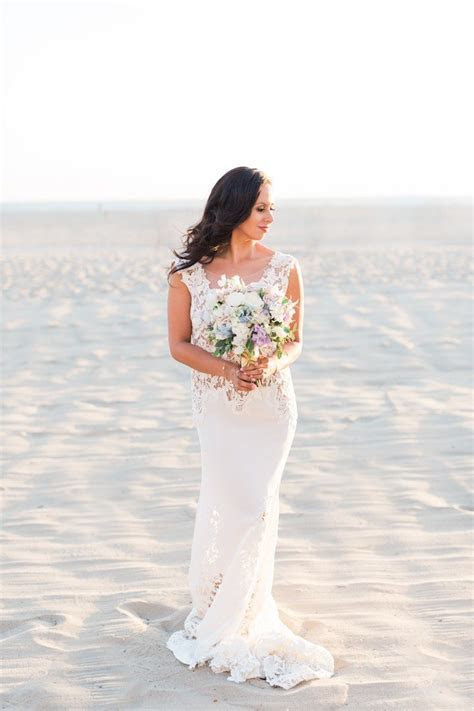 The California Sky Inspired This Santa Monica Wedding