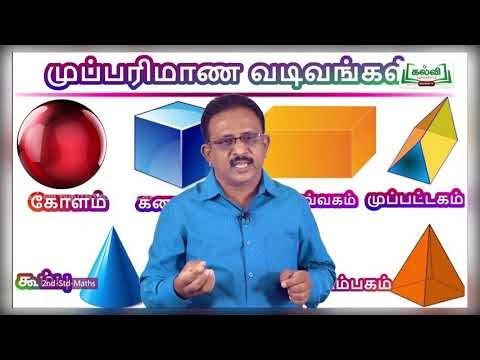 2nd Maths முப்பரிமான உருவங்களின் அறிமுகம் மற்றும் அடையாளம் காணுதல் அலகு 1 Kalvi TV