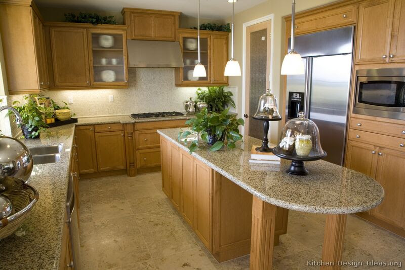 Pictures Of Kitchens Traditional Light Wood Kitchen Cabinets