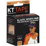 """KT Tape - Elastic Sports Tape for Pain Relief and Support - 20 Strips 10"""" Precut"""