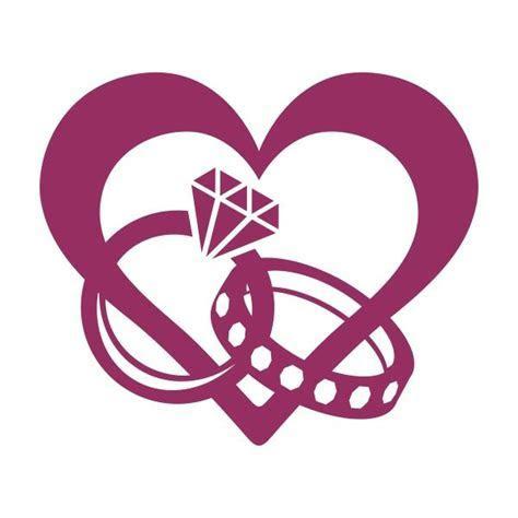 Ring Heart Cuttable Design Cut File. Vector, Clipart