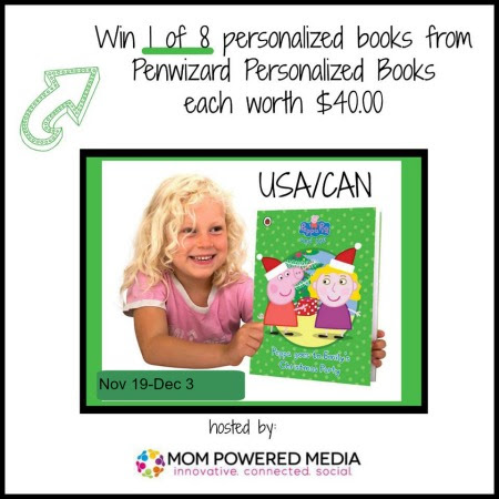 Peppa Pig Personalized Children's Book Giveaway ~ 8 Winners! (US/CAN-12/3)