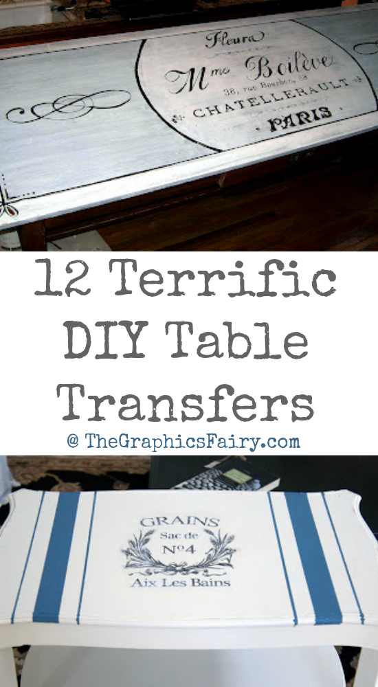 12 Terrific DIY Table Transfers