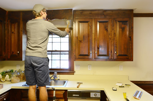 Removing Some Kitchen Cabinets & Rehanging One   Young ...