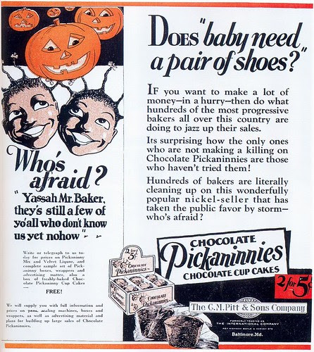 Pickaninnies Cup Cakes ad, 1927