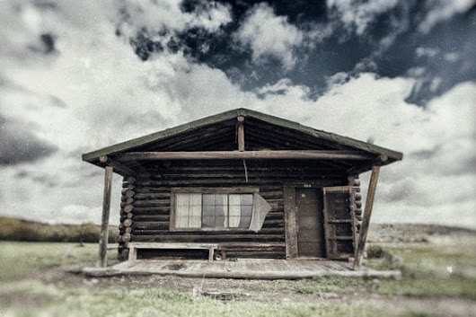 Log Cabin  Abandoned Dude Ranch Log Cabin in by ThorpelandPhoto
