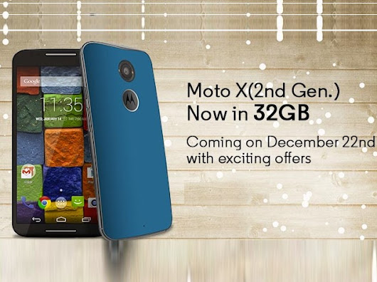 Moto X (2nd gen) 32GB just £199 in the UK until February 1