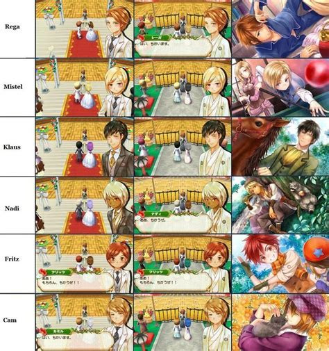 Story of seasons. Bachelor wedding clothes and card.