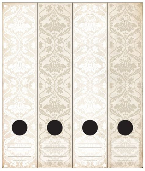 Lever Arch Labels: Antique White by Design A File