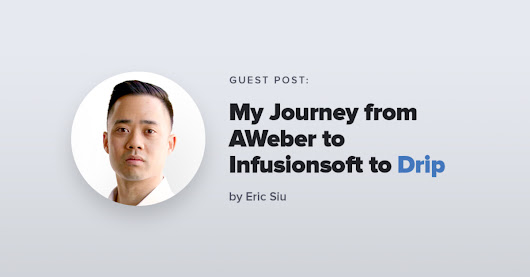 Eric Siu: Why I Moved from AWeber to Infusionsoft to Drip