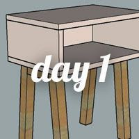 DIY Nightstand Day 1